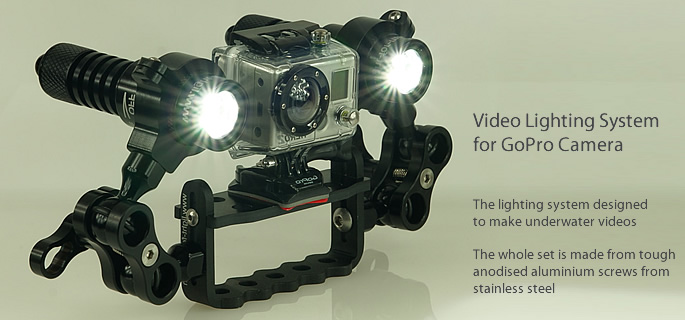 Go Pro Video Hero set 1800 Lumen